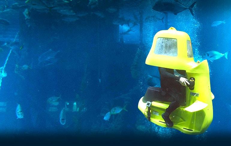 تفریحات آبی - اسکوتر زیر دریا
